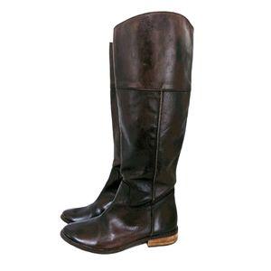 Mia Elisa Dark Brown Leather Boots 7
